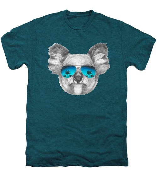 Koala With Mirror Sunglasses Men's Premium T-Shirt by Marco Sousa