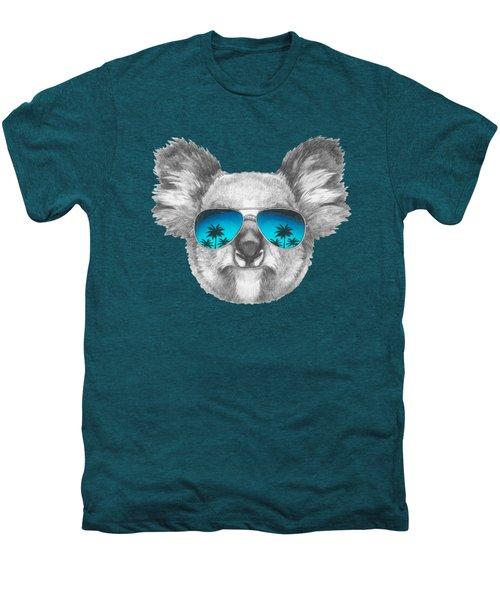 Koala With Mirror Sunglasses Men's Premium T-Shirt