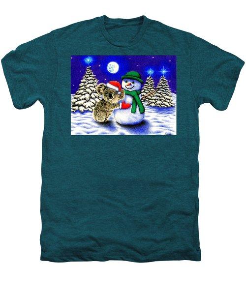 Koala With Snowman Men's Premium T-Shirt