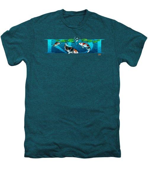 Koi With Type Men's Premium T-Shirt by Rob Corsetti