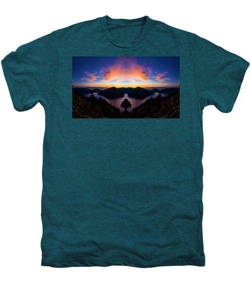 Lake Crescent Reflection Men's Premium T-Shirt by Pelo Blanco Photo