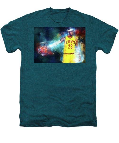 Lebron James Men's Premium T-Shirt by Taylan Apukovska