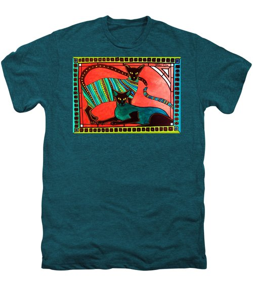 Legend Of The Siamese - Cat Art By Dora Hathazi Mendes Men's Premium T-Shirt