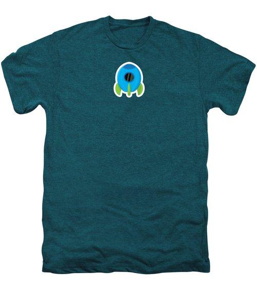 Little Blue Rocket Ship Men's Premium T-Shirt by Nathan Poland