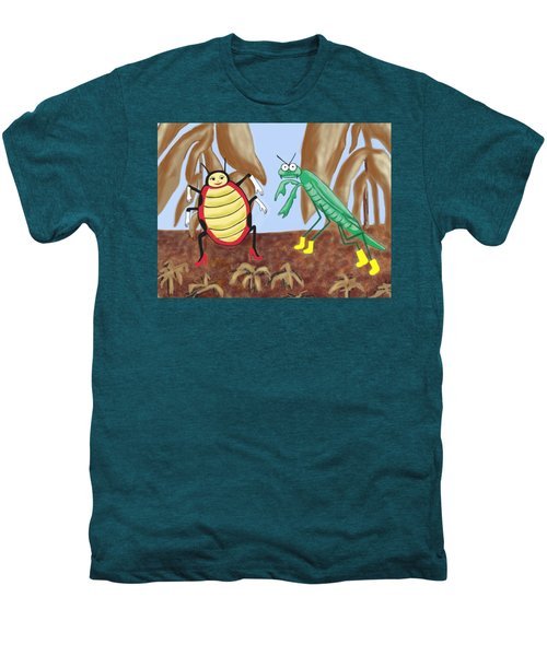 Lucy And Pablo Need A Garden Men's Premium T-Shirt by Jan Watford
