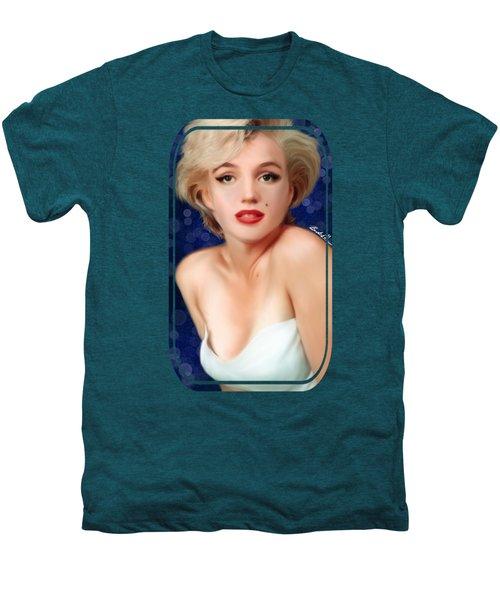 Marilyn Men's Premium T-Shirt by Becky Herrera