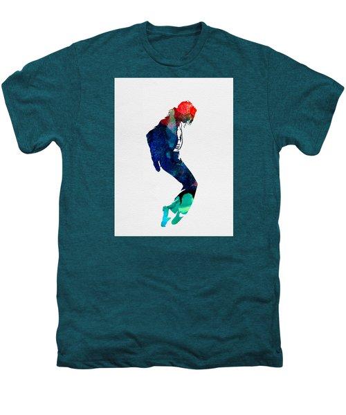 Michael Watercolor Men's Premium T-Shirt by Naxart Studio