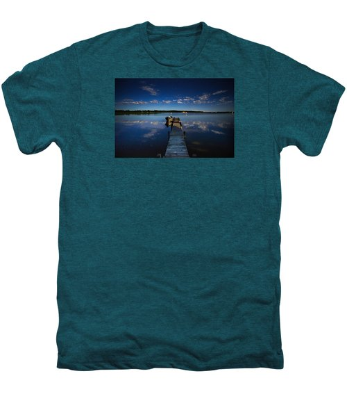 Midnight At Shady Shore On Moose Lake Minnesota Men's Premium T-Shirt by Alex Blondeau