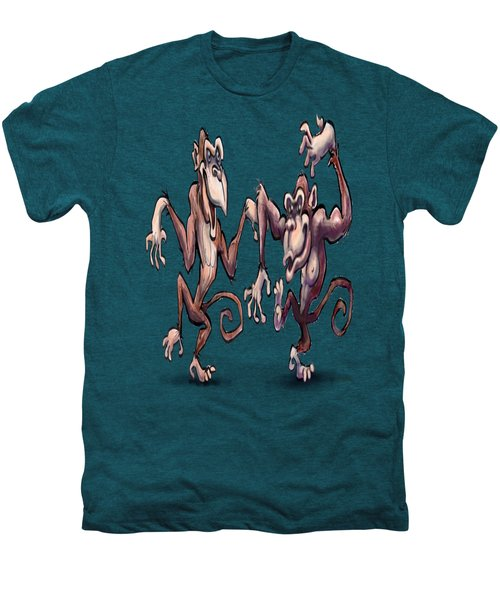 Monkey Dance Men's Premium T-Shirt by Kevin Middleton