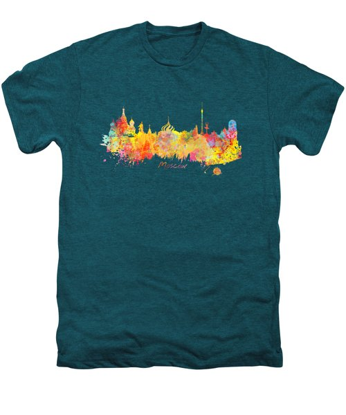 Moscow Skyline  Men's Premium T-Shirt by Justyna JBJart