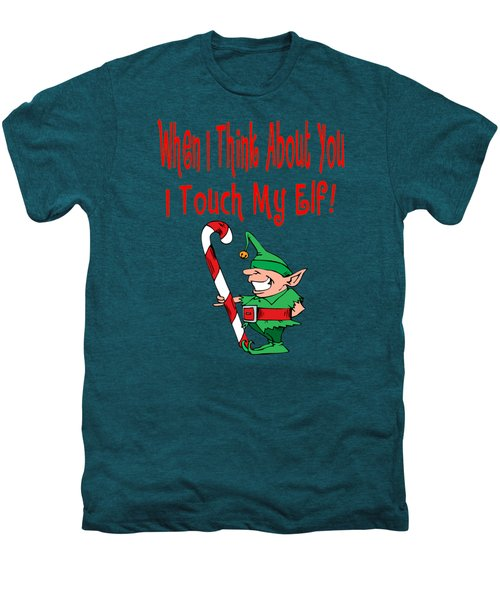 Naughty Christmas Elf Men's Premium T-Shirt by Susan Cooper