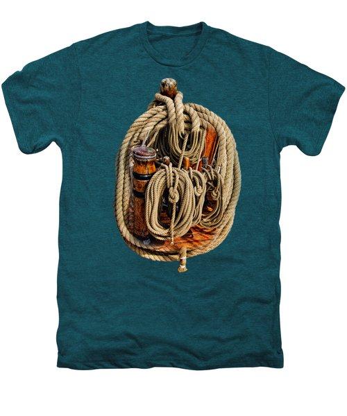 Nautical Knots 17 Oil Men's Premium T-Shirt