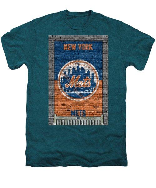 New York Mets Brick Wall Men's Premium T-Shirt