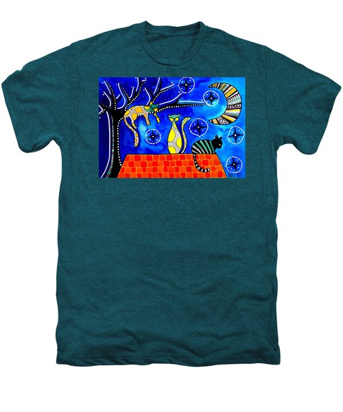Night Shift - Cat Art By Dora Hathazi Mendes Men's Premium T-Shirt