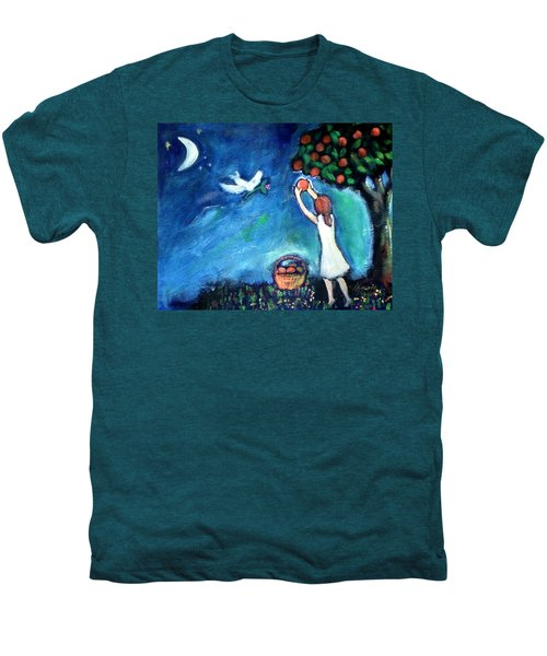 Men's Premium T-Shirt featuring the painting Oranges Song by Winsome Gunning