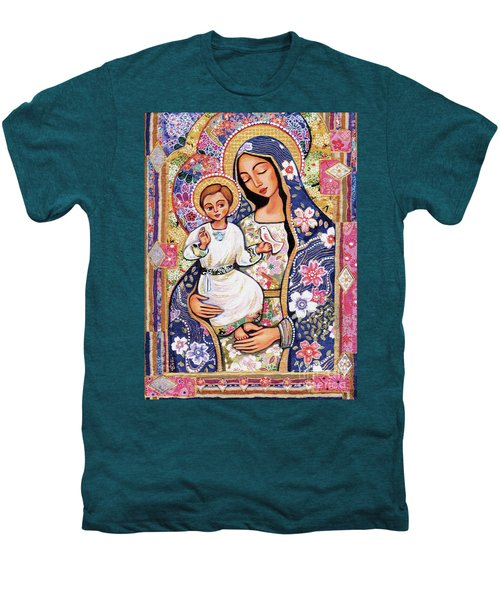 Men's Premium T-Shirt featuring the painting Panagia Eleousa by Eva Campbell