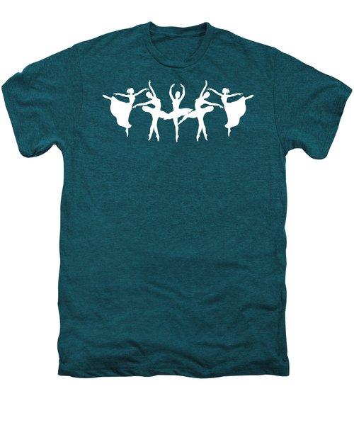 Passionate Dance White Ballerinas Silhouettes Men's Premium T-Shirt