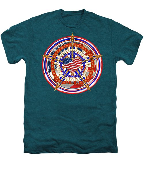 Patriotic For You America Where It Loud And Proud Men's Premium T-Shirt by Bill Campitelle