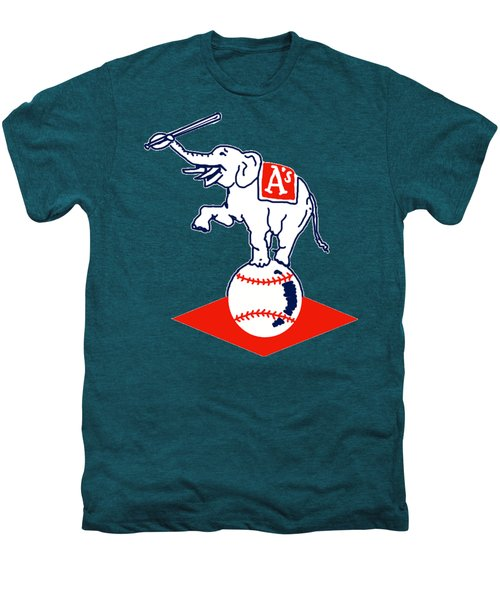 Philadelphia Athletics Retro Logo Men's Premium T-Shirt by Spencer McKain