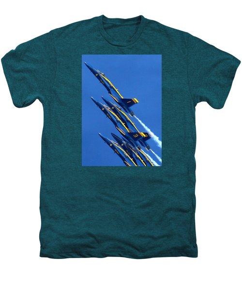 Raging Heap Of Blue And Yellow Men's Premium T-Shirt