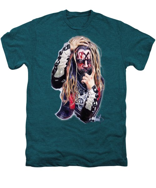 Rob Zombie Men's Premium T-Shirt by Melanie D