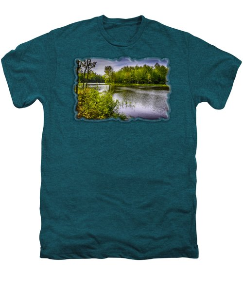 Men's Premium T-Shirt featuring the photograph Round The Bend In Oil 36 by Mark Myhaver