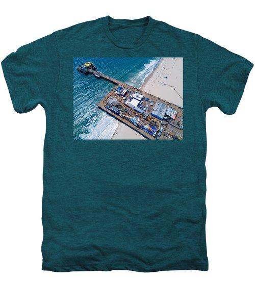 Santa Monica Pier From Above Side Men's Premium T-Shirt