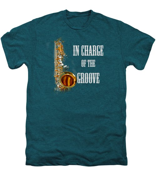 Saxophones In Charge Of The Groove 5531.02 Men's Premium T-Shirt by M K  Miller