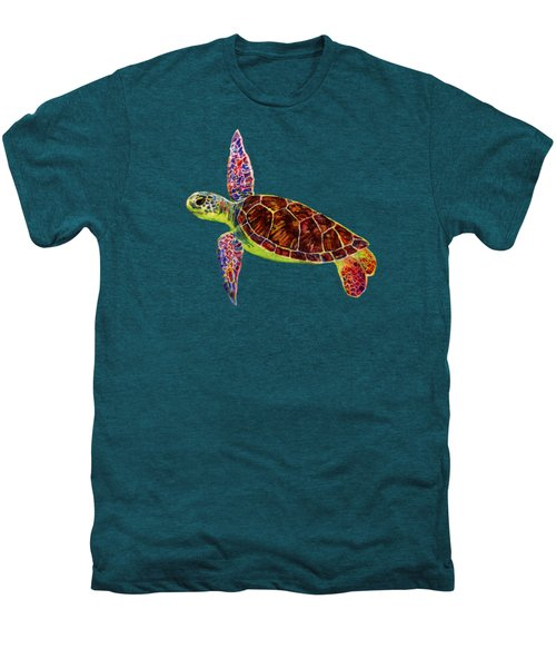 Sea Turtle Men's Premium T-Shirt by Hailey E Herrera