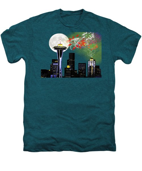 Seattle Skyline Men's Premium T-Shirt by Methune Hively