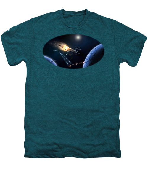 Space Battle I Men's Premium T-Shirt by Carlos M R Alves
