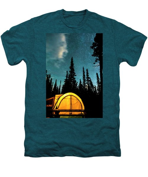 Men's Premium T-Shirt featuring the photograph Star Camping by James BO Insogna