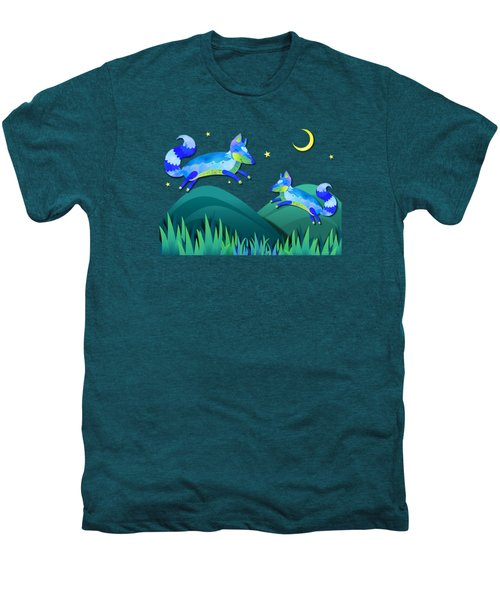 Starlit Foxes Men's Premium T-Shirt