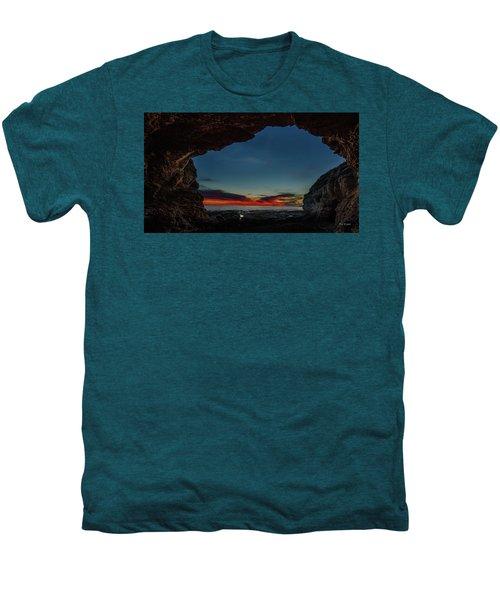 Sunset From Brady's Cave Men's Premium T-Shirt