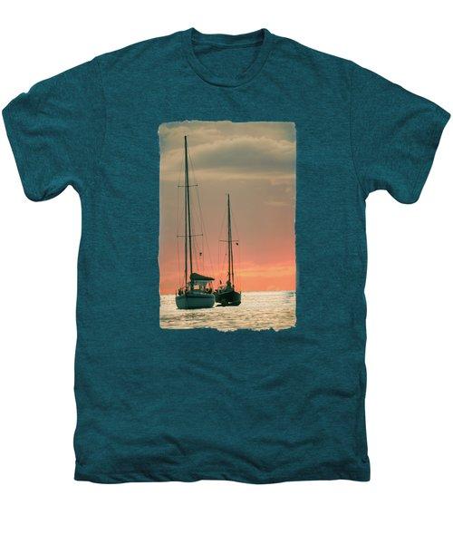 Sunset Yachts Men's Premium T-Shirt by Konstantin Sevostyanov