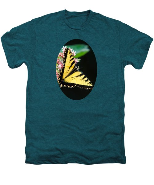 Swallowtail Butterfly And Milkweed Flowers Men's Premium T-Shirt by Christina Rollo