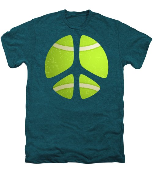 Tennis Ball Peace Sign Men's Premium T-Shirt by David G Paul