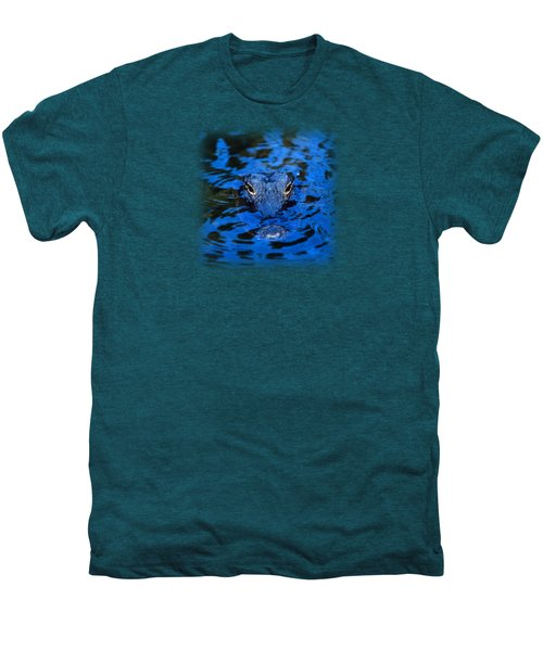 The Eyes Of A Florida Alligator Men's Premium T-Shirt by John Harmon