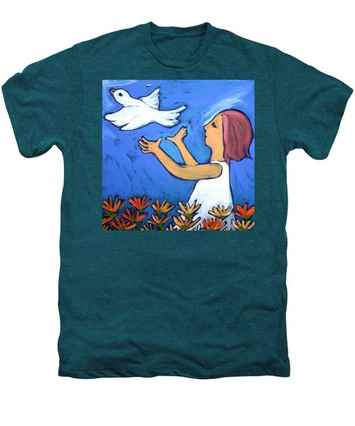 Men's Premium T-Shirt featuring the painting To Fly Free by Winsome Gunning
