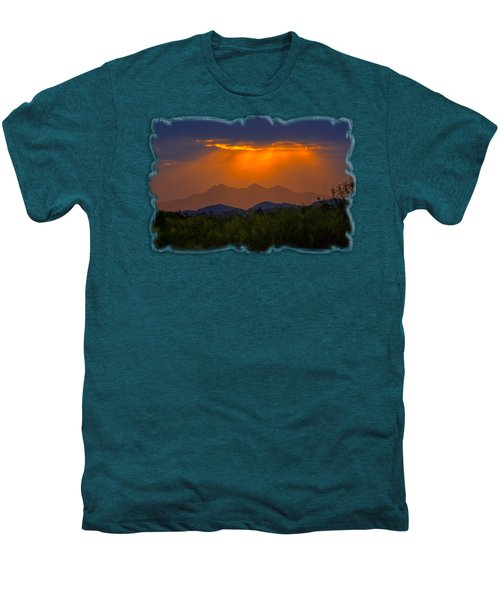 Tucson Mountains Sunset H29 Men's Premium T-Shirt by Mark Myhaver