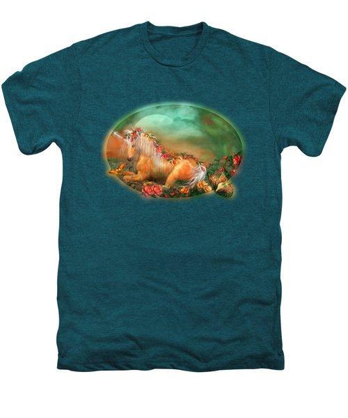 Unicorn Of The Roses Men's Premium T-Shirt by Carol Cavalaris