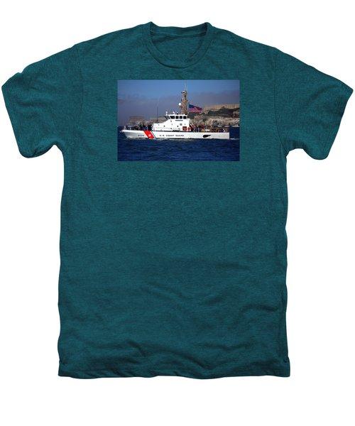 Uscg Hawksbill Patrols San Francisco Bay During Fleet Week Men's Premium T-Shirt