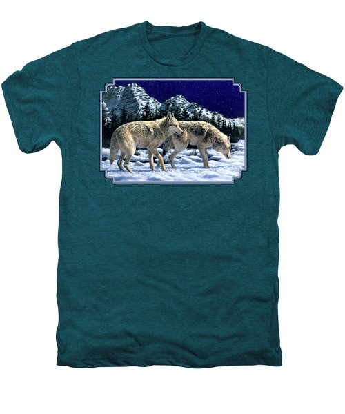 Wolves - Unfamiliar Territory Men's Premium T-Shirt by Crista Forest