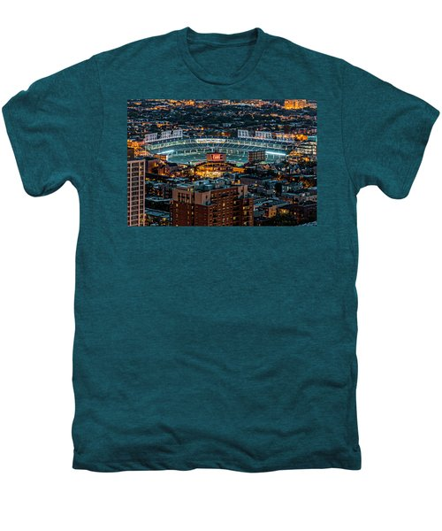 Wrigley Field From Park Place Towers Dsc4678 Men's Premium T-Shirt by Raymond Kunst