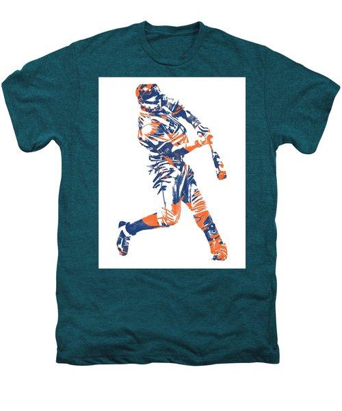 Yoenis Cespedes New York Mets Pixel Art 1 Men's Premium T-Shirt