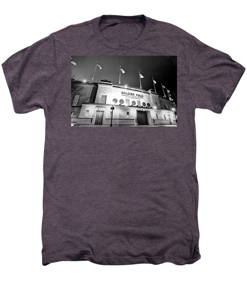 0879 Soldier Field Black And White Men's Premium T-Shirt