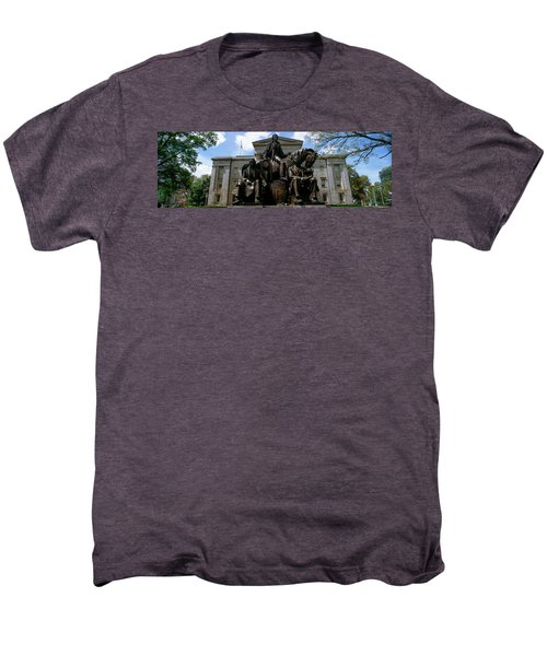 Low Angle View Of Statue Men's Premium T-Shirt