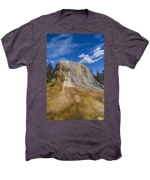 Orange Spring Mound Yellowstone National Park Men's Premium T-Shirt