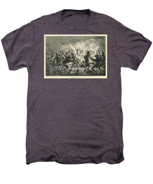 Semipalmated Sandpipers Men's Premium T-Shirt by Yva Momatiuk John Eastcott
