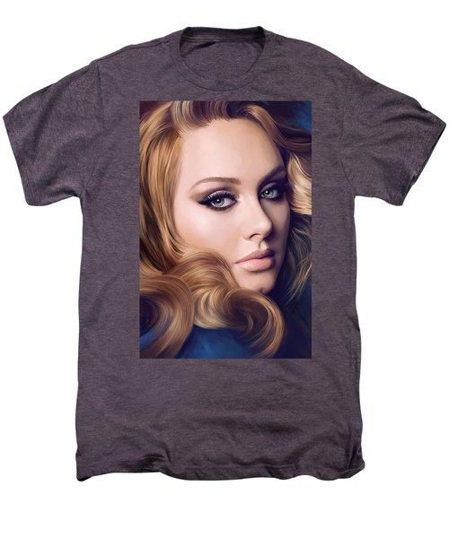 Adele Artwork  Men's Premium T-Shirt by Sheraz A